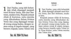 Alkitab TB 064 TI BL Neuro Hitam-Orange