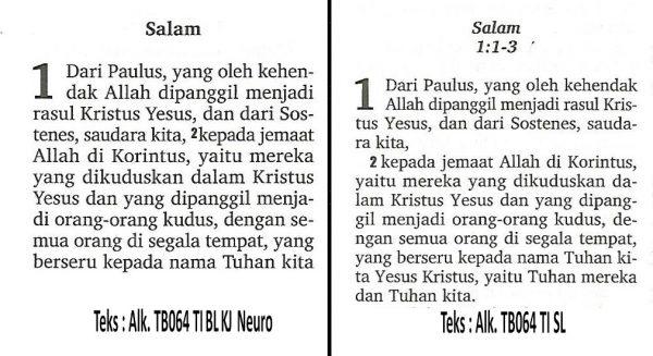 Alkitab LAI TB 064 TI BL KJ Neuro Hitam-Cream