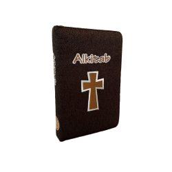 Alkitab LAI TB 054 TI Kanvas Olive Coklat Tua